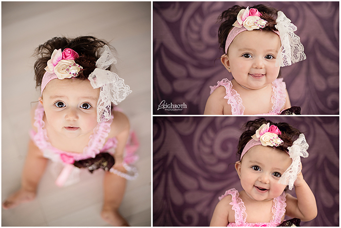 Sweet 6 Month Baby Girl Studio Baby Photographer Leigh Roth